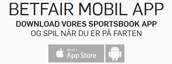 Betfair mobil og app