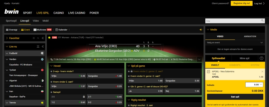 bwin live-spil