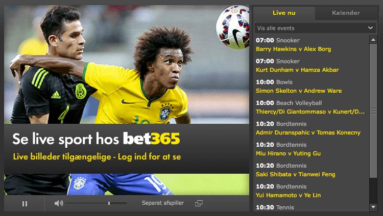 Live Billeder hos bet365