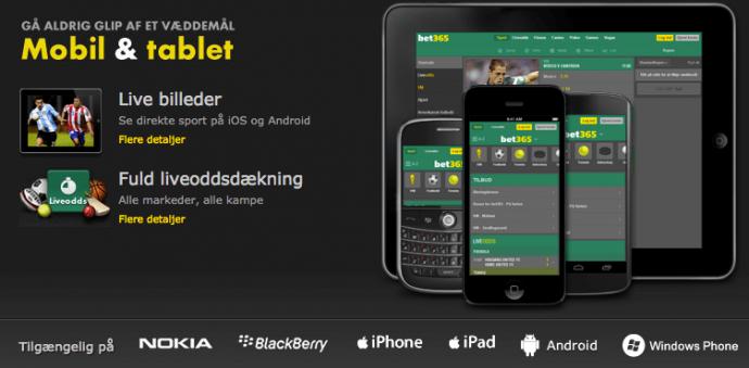 bet365 mobil og app