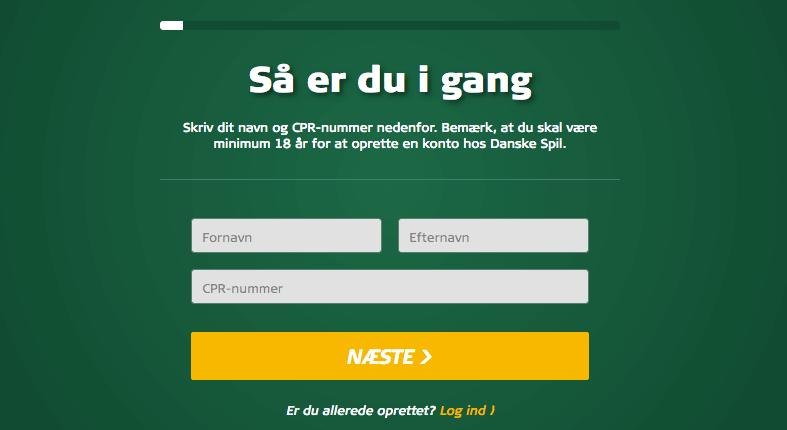 Opret konto danskespil