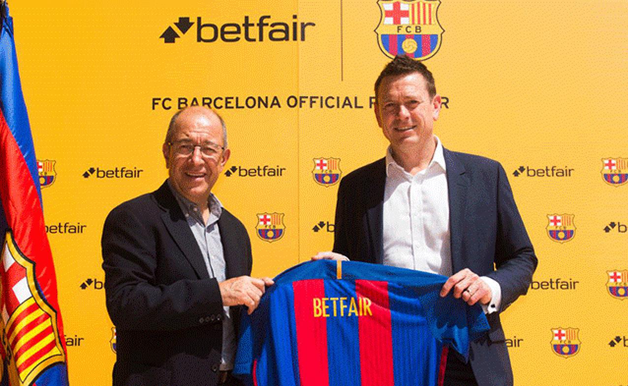 Betfair er sponsor i FC Barcelona