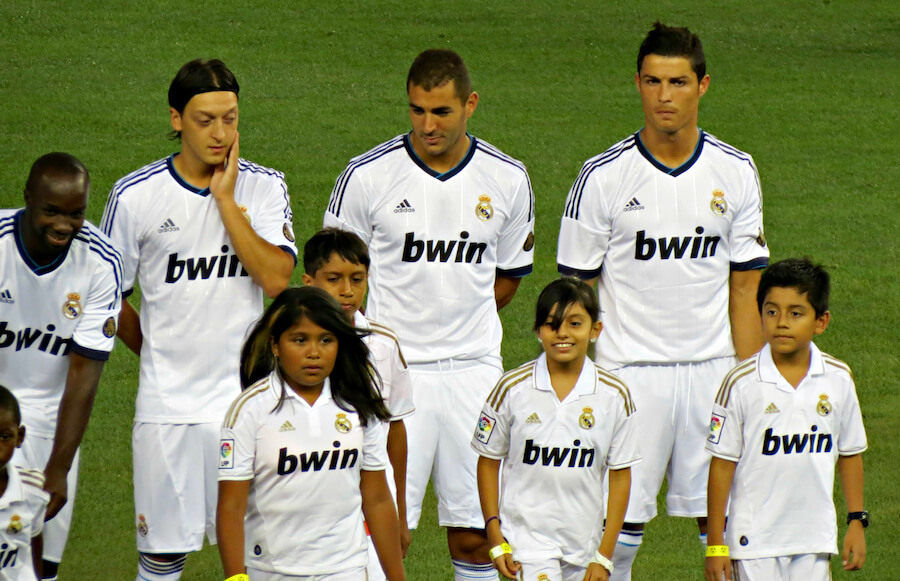 Bwin er sponsor i Real Madrid